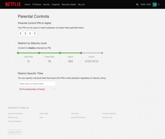 Netflix-ouderlijk-toezicht-pincode