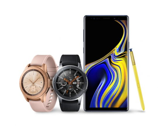 Samsung Galaxy Note 9 en Galaxy Watch