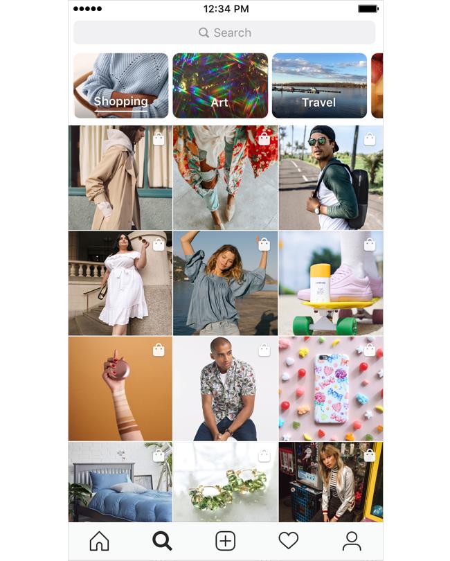 Instagram-Explore-winkelen