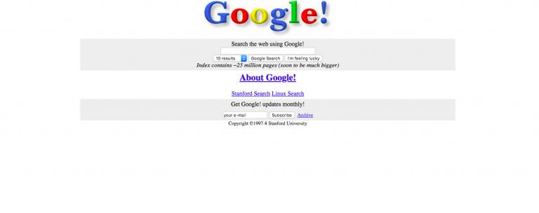 Google 20 jaar