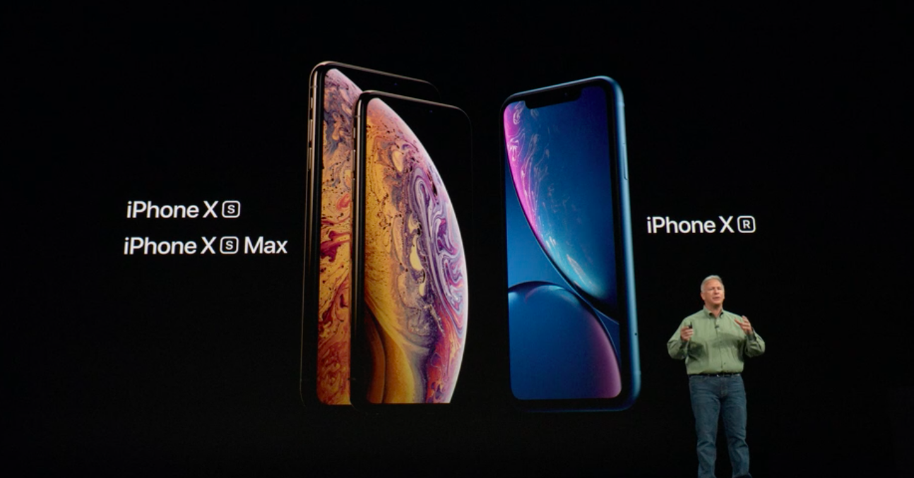 iPhone Xs, Xs Max en Xr