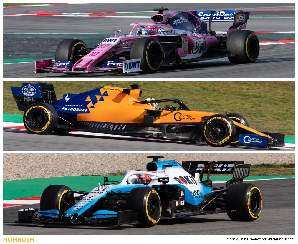 Racing Point F1 Team, McLaren, Williams