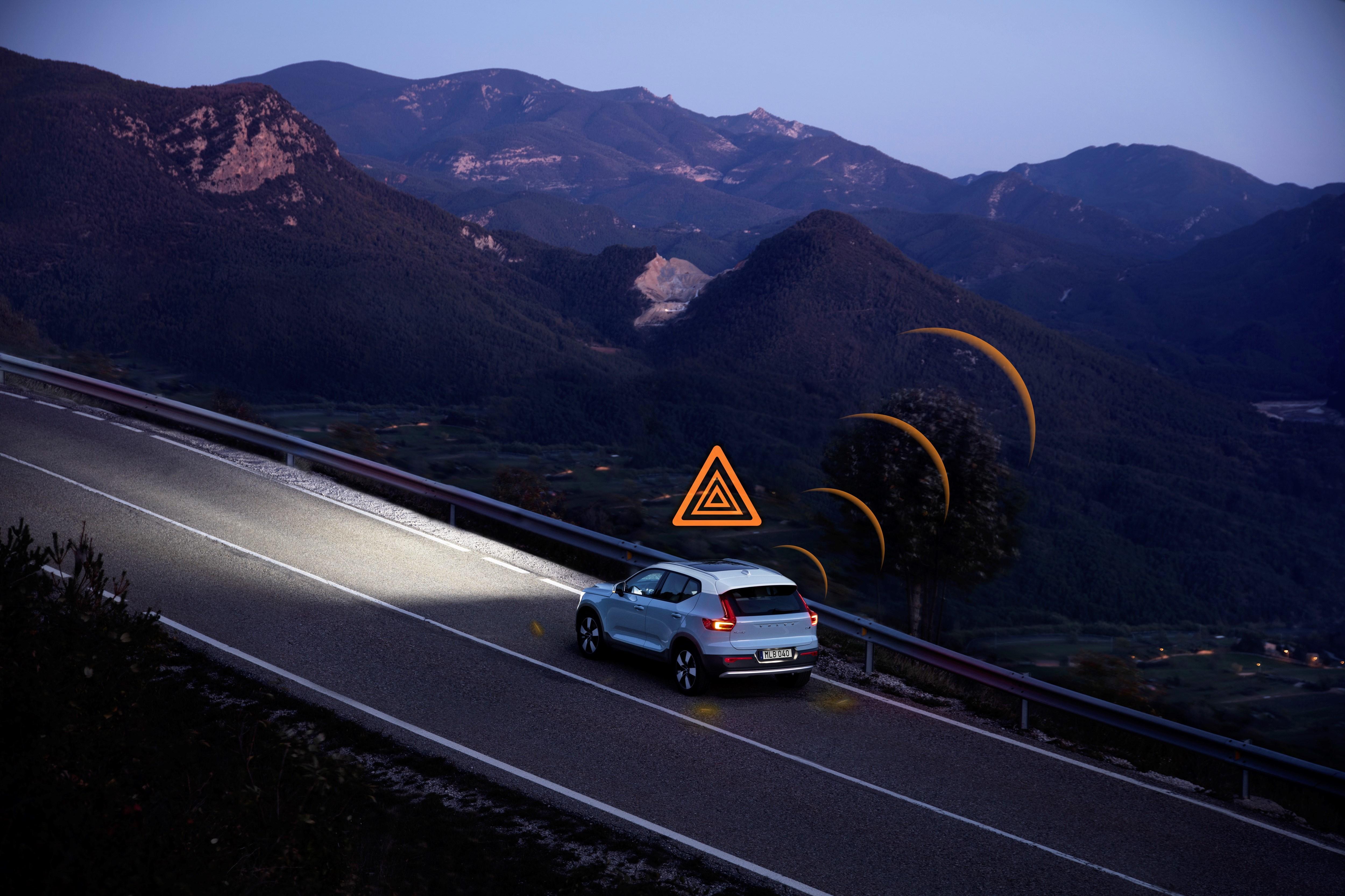 Volvo XC40 waarschuwing