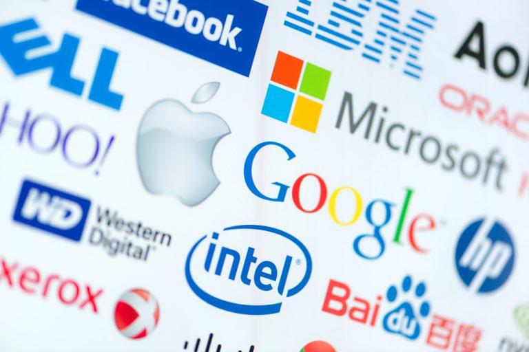 Tech-giganten, Intel, Google, Apple, Microsoft,