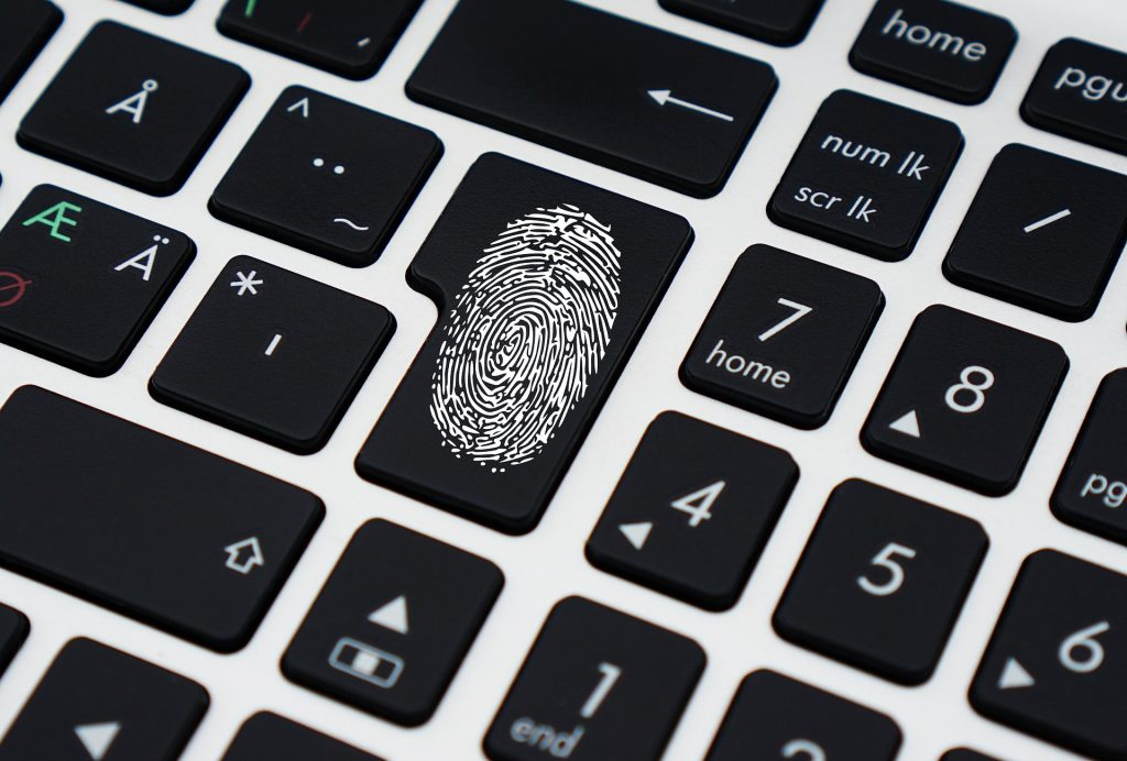 Vingerafdruk, biometrische gegevens