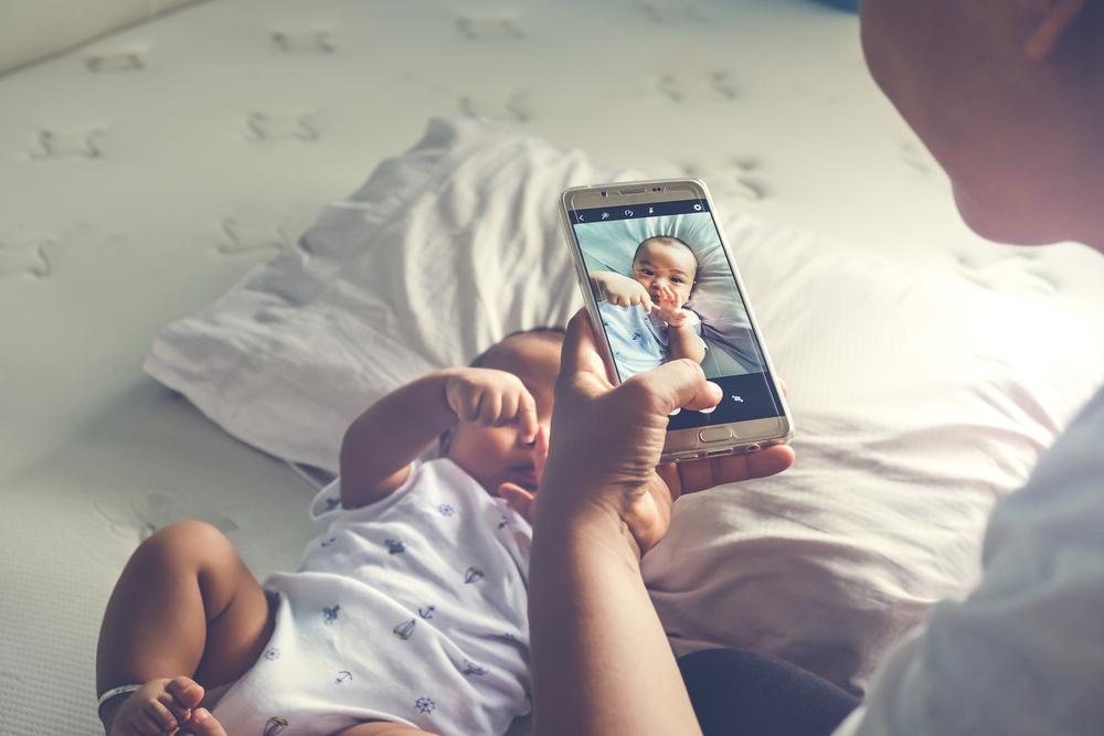 Smartphone, medische app, app, kind, foto