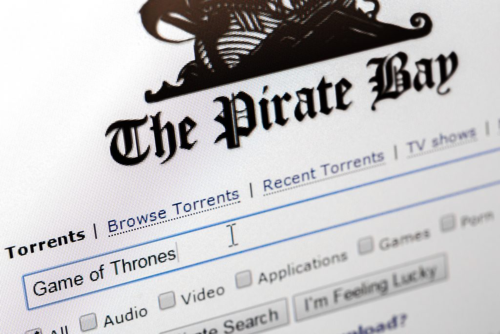 Piraterij, illegaal downloaden, Game of Thrones, The Pirate Bay