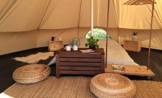 logeren in yurt