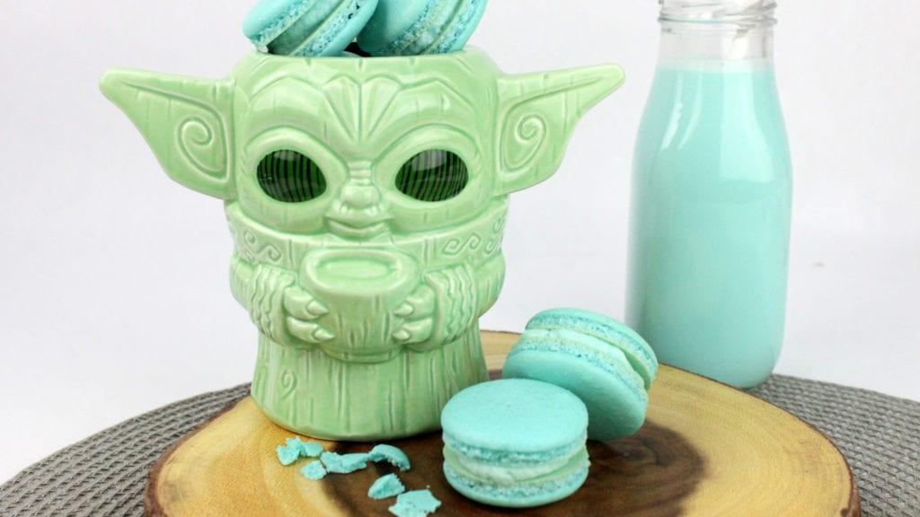 Blue Milk Mando Macarons